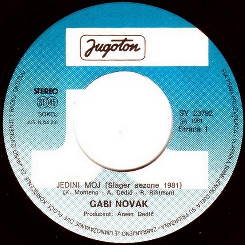Gabi Novak 1981 Jedini moj vinil 1