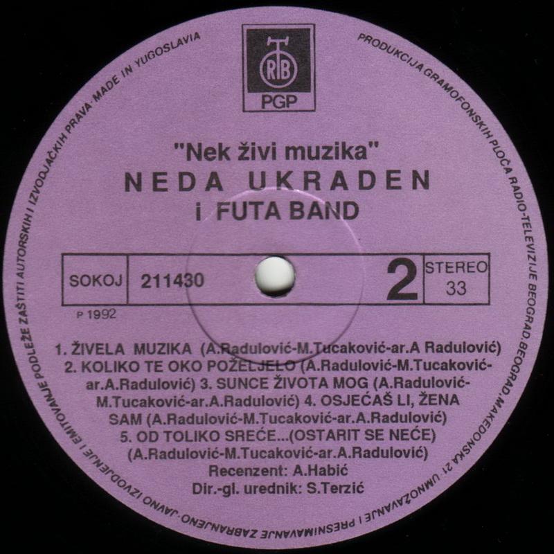Neda Ukraden 1992 Neka zivi muzika vinil 2