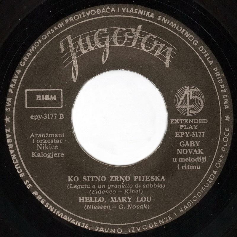 Gabi Novak 1962 Till vinil 2