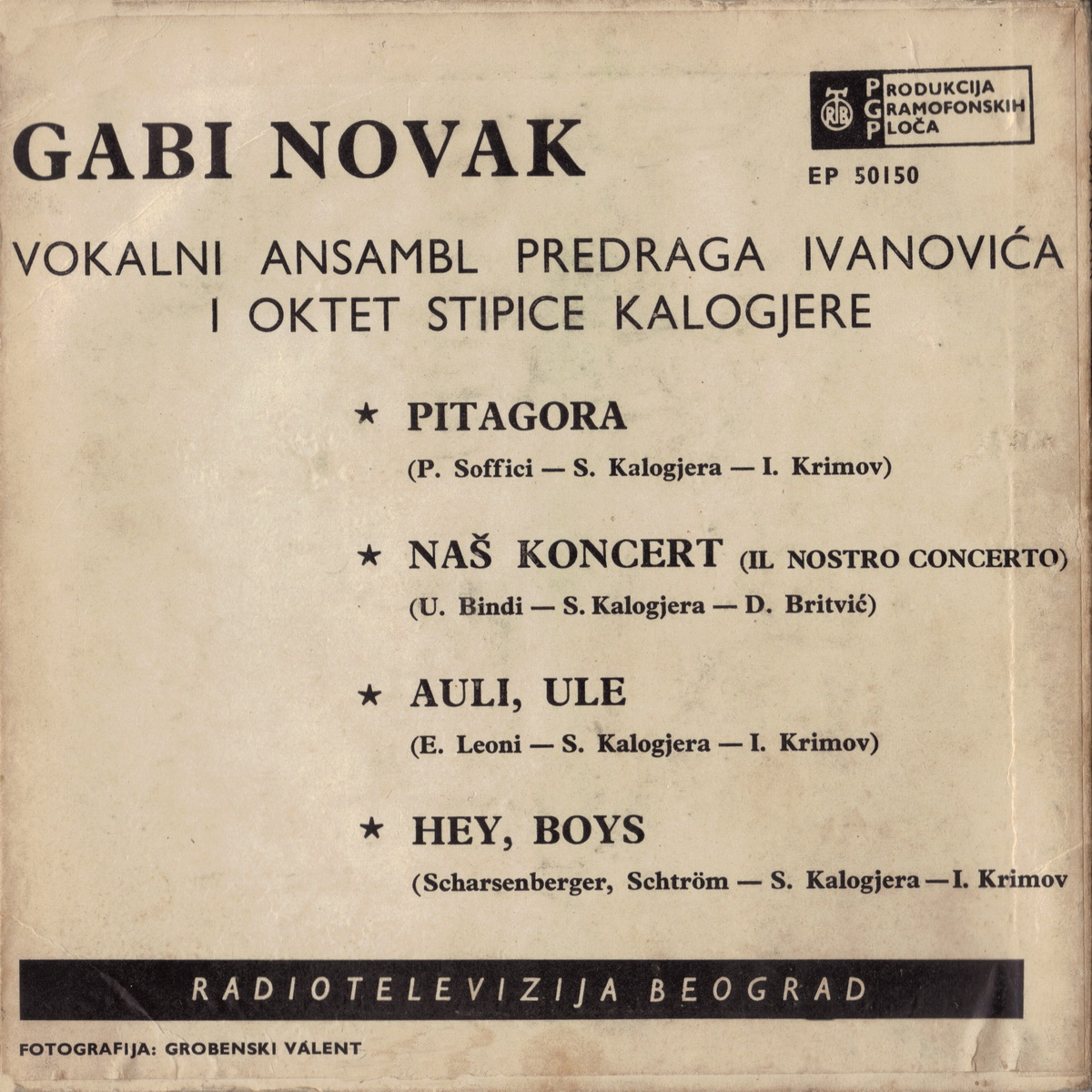 Gabi Novak 1962 Pitagora B