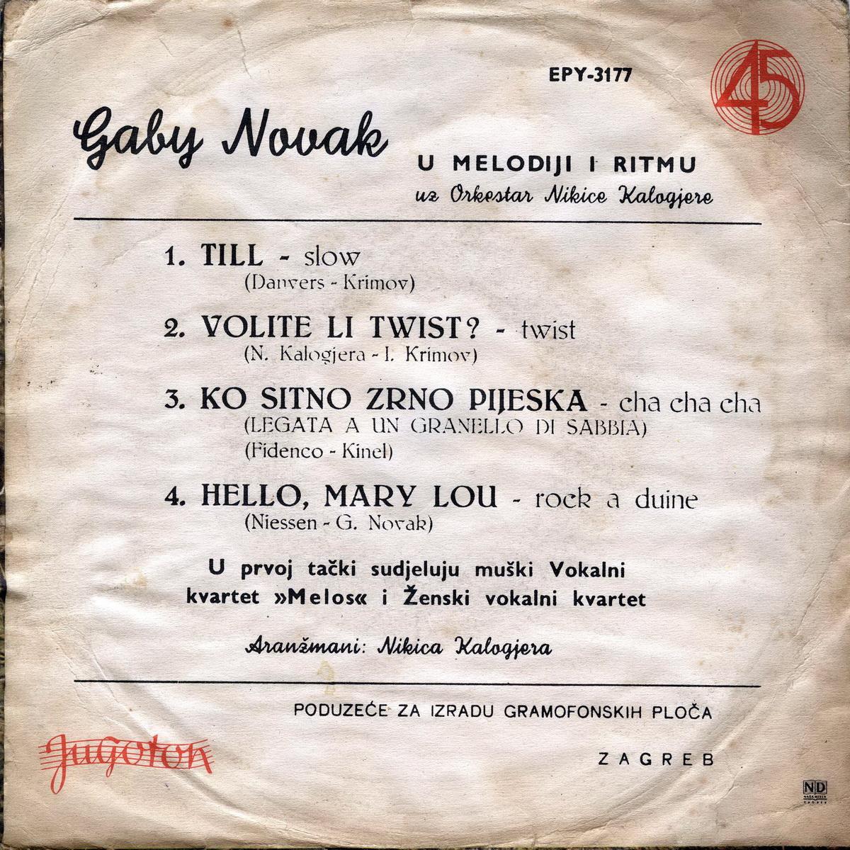 Gabi Novak 1962 Till b